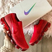 Nike vapormax SE Flyknit red Fashion Running Sport Sneakers Shoes