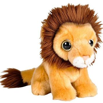 7 Inch Stuffed Lion Plush Sitting Animal Kingdom Collection