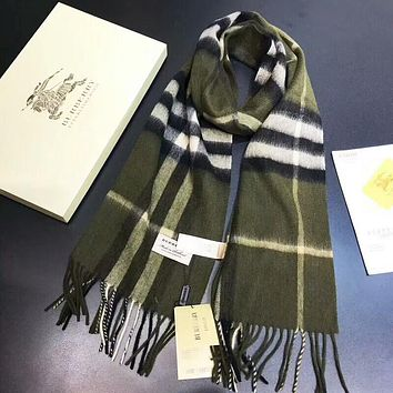 Burberry New Popular Woman Men Casual Cashmere Sunscreen Cape Scarf Scarves Shawl Accessories Green