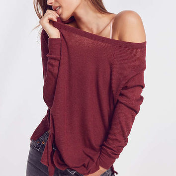Out From Under Sophia Split Side Raglan Top | Urban Outfitters