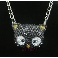 XL CHOCOCAT HELLO KITTY CRYSTAL NECKLACE*Black*