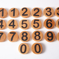 Handmade wooden numbers, eco friendly toy, educational game, waldorf toy, wooden toy, math game, christmas gift