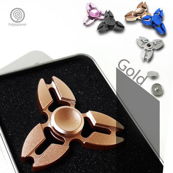 EDC Scorpion Metal Fidget Spinner with Steel R188 Bearing (Tri-spinner, Ultra Fast)