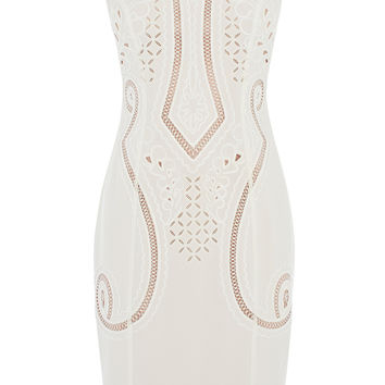 Embroidered and cutwork dress | Luxury Women's shop_all | Karen Millen
