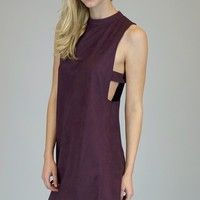 Rosa Suede Shift Dress