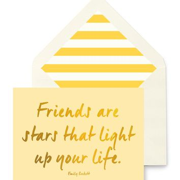 Friends Are Like Stars Greeting Card, Single Folded Card or Boxed Set of 8