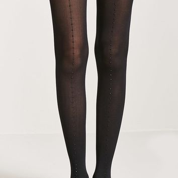 Beaded Semi-Sheer Tights