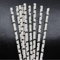 25 pcs Paper Drinking Straws Funny Drinking Tubes Paper Straw Birthday Wedding Decorative Party Event Supplies CY1