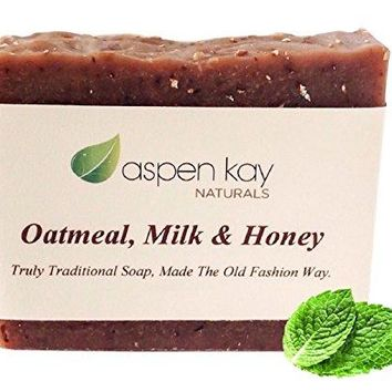 Oatmeal Soap Bar. With Organic Honey, Goats Milk, & Organic Shea Butter, Can Be Used as a Face Soap or All Over Body Soap. For Men, Women &...