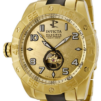 Invicta 0217 Men's Pro Diver Collection Reserve Automatic 18k Gold-Plated Watch