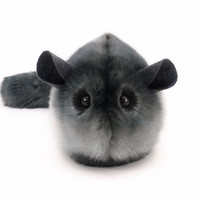Stuffed Chinchilla Stuffed Animal Cute Plush Toy Chinchilla Kawaii Plushie Smokey the Dark Grey Snuggly Faux Fur Toy Medium 5x8 Inches