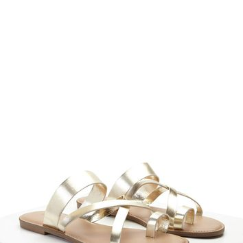 Metallic Toe Ring Sandals