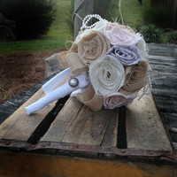 Blush, Grey, Burlap Bouquet, Wedding Burlap Bouquet, Burlap Bouquet Wrap, Rustic Burlap Bouquet, Burlap, Wedding, Bride, Favor, Bridesmaid