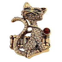 Fashion Cat Ring(Random Color,Size 9)
