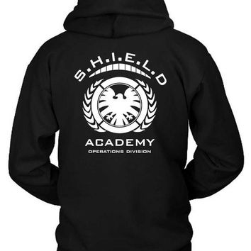 ESBH9S Marvel Shield Academy Operations Divisions Hoodie Two Sided