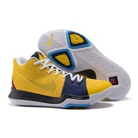 Best Deal Online Nike Kyrie Irving 3 PE Men Basketball Sneaker Face Logo White Navy Red Yellow Sports Shoes