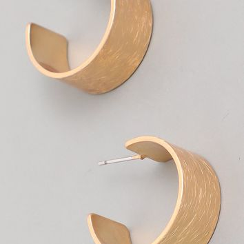 Mira Small Thick Gold Hoop Earrings