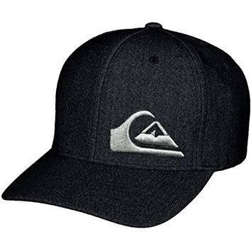 Quiksilver Mens Final'15 Flexfit Hat Large/X-Large Dark Shadow