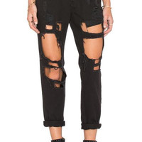 Destruction Boyfriend Jeans - Black