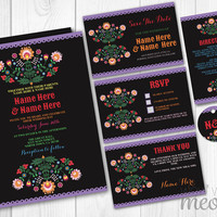Fiesta Wedding Invitations Set Template Rustic Package Printable Invites Save The Date INSTANT DOWNLOAD Tags Mexico Personalize Editable