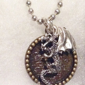 THE WATER DRAGON Necklace Singe the Dragon Inspired by Dragons Lair Game from 1983