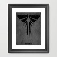 The Last of Us - Fireflies Framed Art Print by Melissa Smith