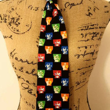 Beatles - john lennon - ringo starr - paul McCartney - George Harrison - Mens Tie