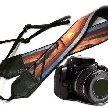 Sea Camera Strap. Beach camera strap. DSLR / SLR Camera Strap. For Sony, canon, nikon, panasonic, fuji and other cameras.
