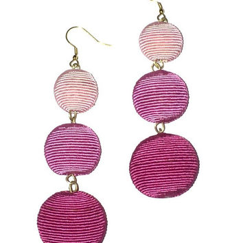 Bon Bon Drop Earrings-Pink