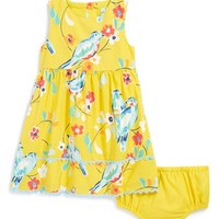 Infant Girl's Mini Boden 'Pretty Tea' Cotton Dress & Bloomers