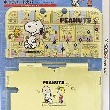 Nintendo Official Kawaii 3DS XL Hard Cover -PEANUTS Footprints SNOOPY-