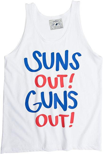 WELLEN SUNS OUT GUNS OUT TANK > red white blue clothing | Swell.com