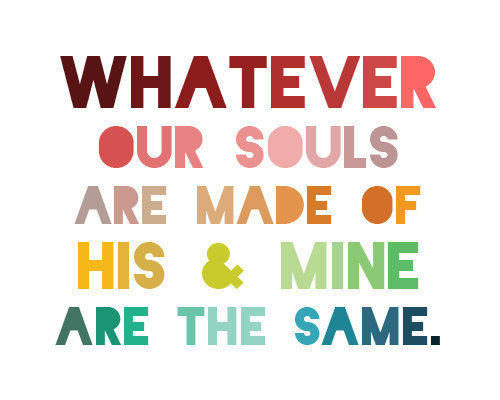 His & Mine - Bronte Quote - 8x10 Print