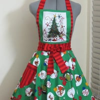 The Grinch Apron -Vintage Inspired Apron - Grinchmas... Limited Edition- Ready to ship