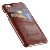 Business Style Luxury Leather Case For Apple Iphone 6 6S Cover Fashion Wallet Card Holder Wax Phone Funda Bags For Iphone6 6s