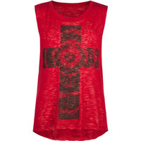 Full Tilt Cross Girls Hachi Muscle Tank Berry  In Sizes