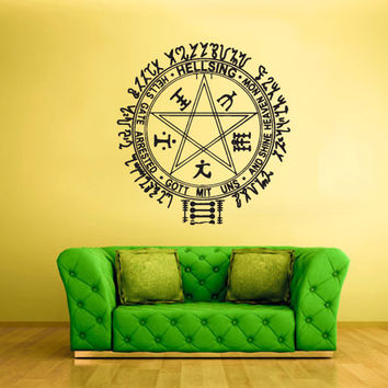 rvz1731 Wall Decal Vinyl Sticker Art Decor Bedroom Hellsing Logo Anime Manga