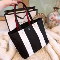 MCM Canvas Shopping Bag