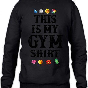 pokemon this is my gym shirt Crewneck Sweatshirt