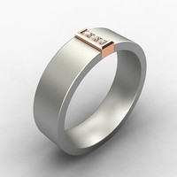 Titanium wedding band,  Rose gold, diamond ring, mens wedding band, mens rose gold ring, men diamond band, commitment
