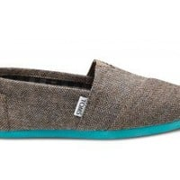 TOMS Teal Pop Herringbone
