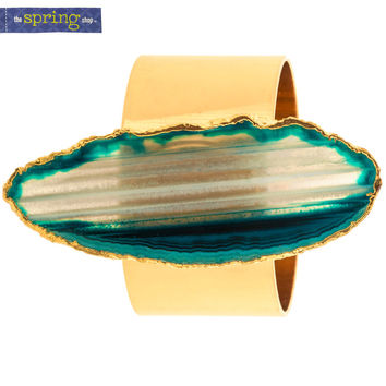 Gold Metal Napkin Ring with Agate | Hobby Lobby