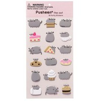Pusheen Puffy Food Stickers