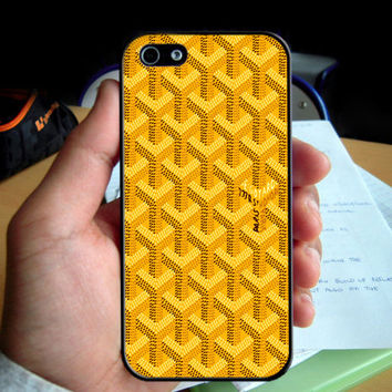 Goyard Yellow Pattern phone case for Iphone 4 4S 5 5S 6 6plus Samsung Galaxy S3 S4 S5 S6 S6Edge Note 3 Note 4 cover