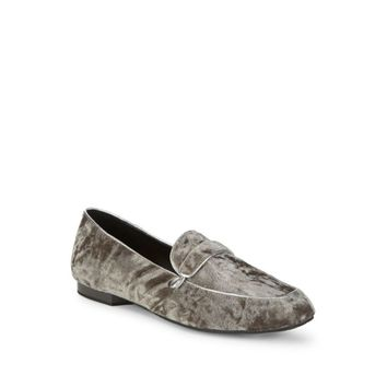 Donald Pliner Women's Gray Haven Velvet Loafer