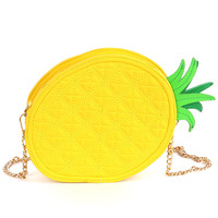Yellow Pineapple Fashion Zip Purse