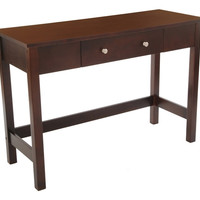 Sofa Console Table with Full Wood Top and Drawer - Espresso F68344-02 Bay Shore