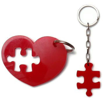 Puzzle Keychain,Puzzle Accessories,Key Chain Set,Plexiglass,Lasercut Acrylic,Gifts Under 25