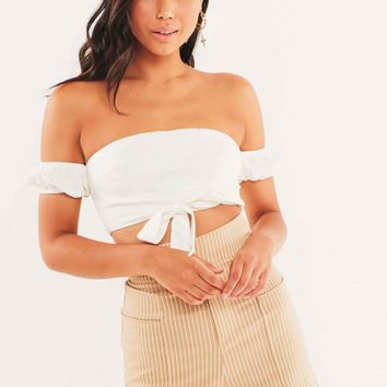 Quela Crop - White