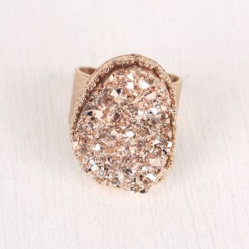 Raw Quartz Statement Ring